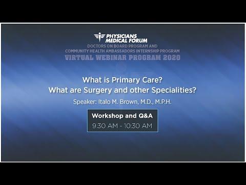 PMF 2020 Doctors on Board and Community Health Ambassadors Virtual Program Workshop 1