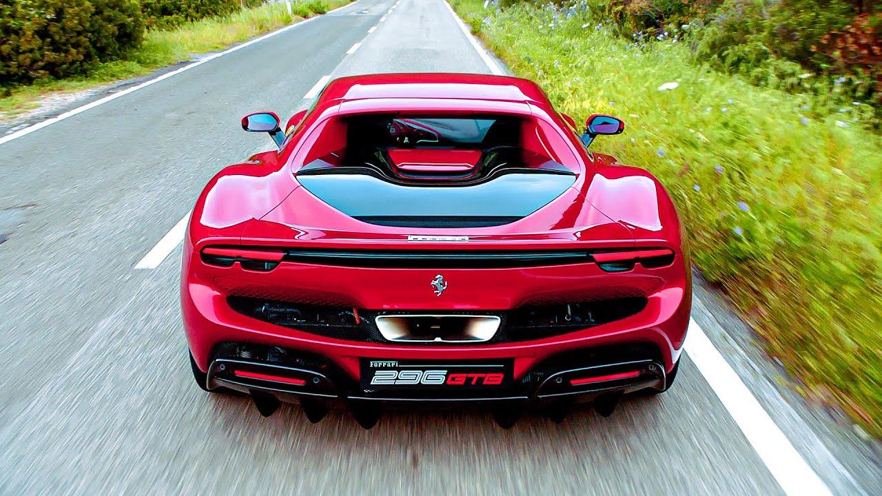سيارة فيراري جديده هجينة تعمل بالكهرباء Ferrari 296 GTB
