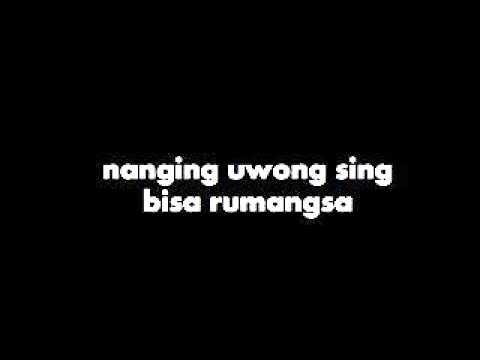 Ojo ngece karo wong ra nduwe-lirik