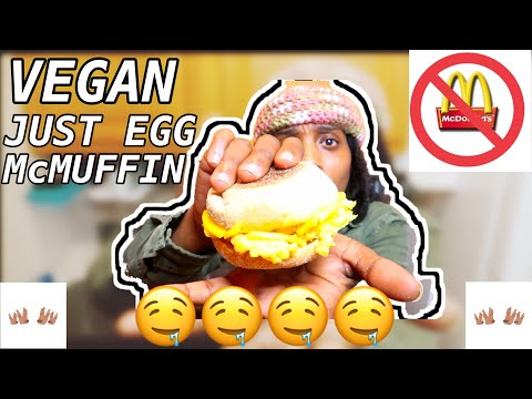 JUST EGG REVIEW & MAKING A VEGAN EGG AND CHEESE MCMUFFIN