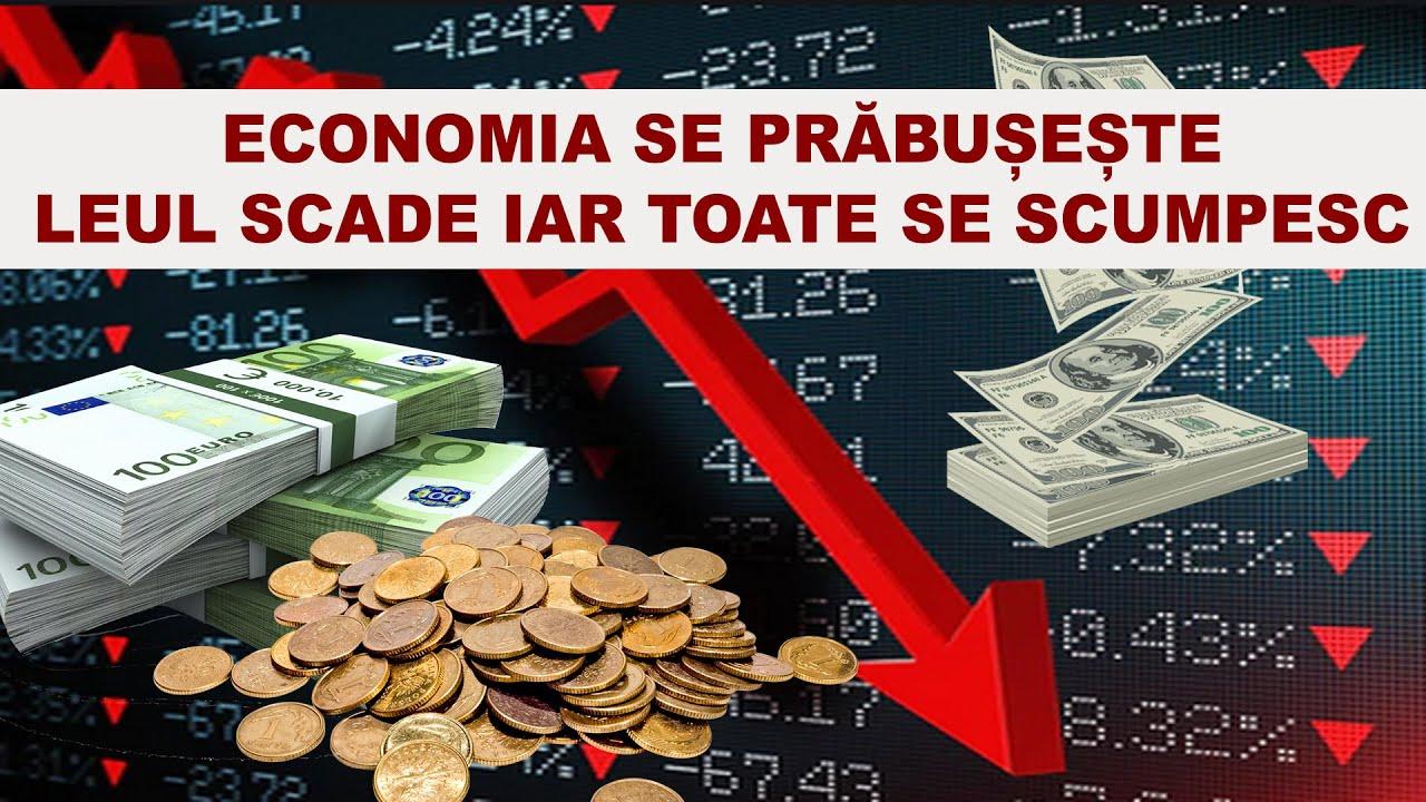 ECONOMIA SE PRABUSESTE / LEUL SCADE IAR TOATE  SE SCUMPESC / CRIZA ECONOMICA ESTE MAI REA CA IN 2008