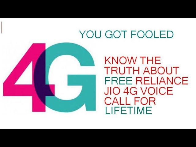 THE TRUTH BEHIND FREE 4G CALL ON RELIANCE JIO FOR LIFETIME