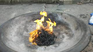 Burning 2 Bags of Stale Hotfries