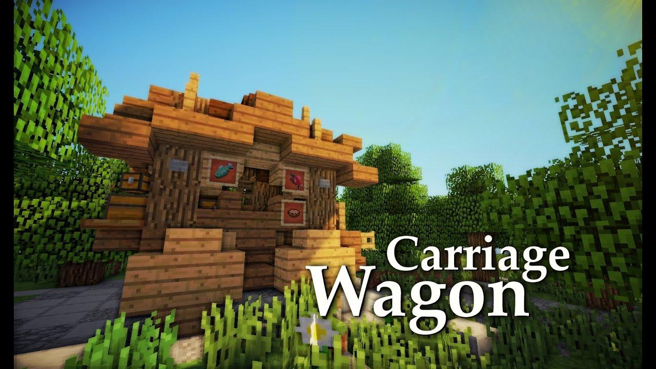 Minecraft Medieval Carriage Wagon Tutorial Design 2