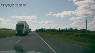 Выезд на встречку трасса Курган-Челябинск