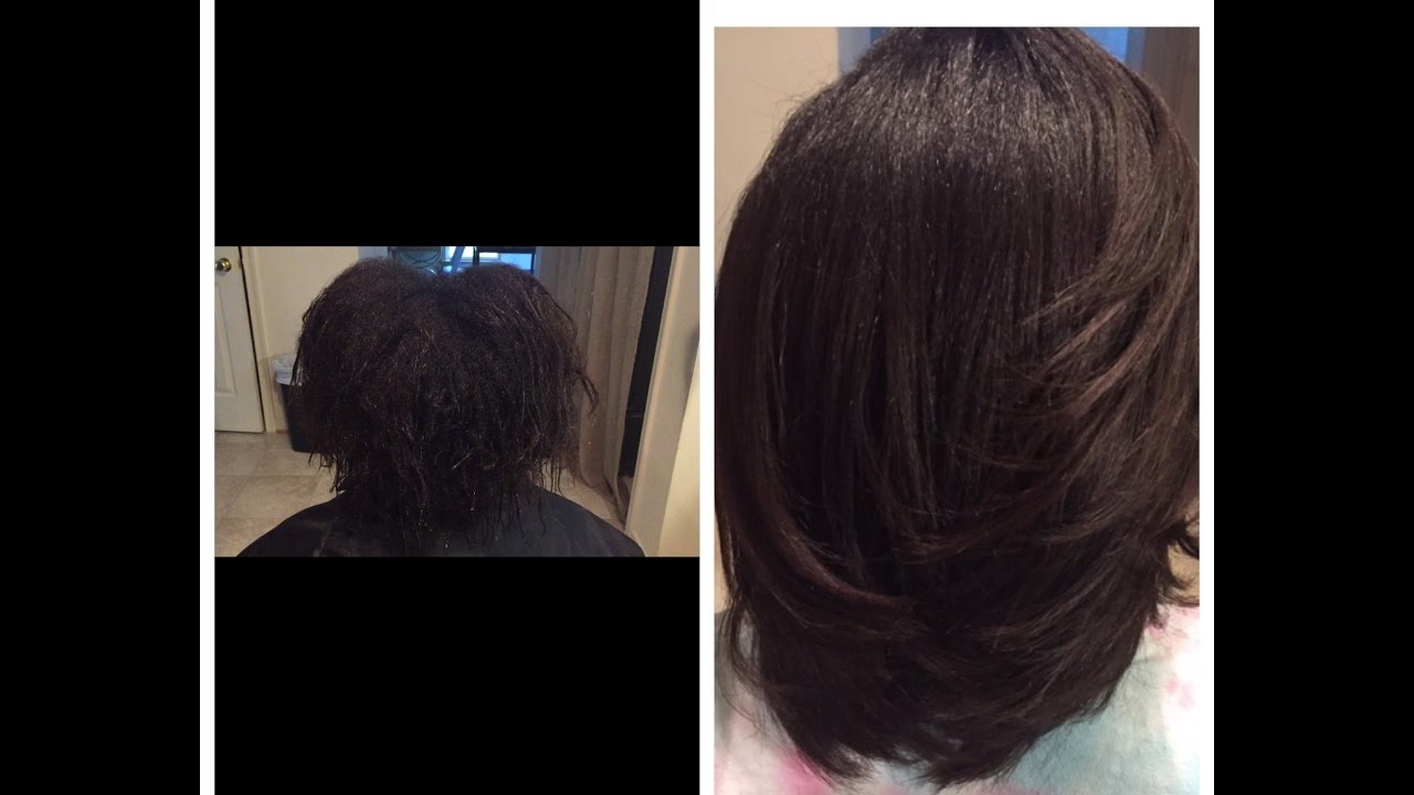 Silk wrap on natural hair - YouTube