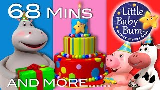 Video Happy Birthday Song | Part 2 | Plus Lots More Nursery Rhymes | 68 Mins Compilation by LittleBabyBum! download MP3, 3GP, MP4, WEBM, AVI, FLV Agustus 2017
