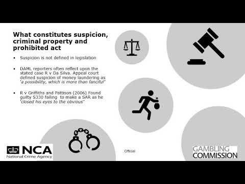 Gambling Commission and National Crime Agency (NCA) - Submitting Better Quality SARs Video 3 of 5