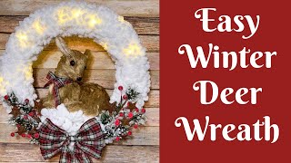 christmas-crafts-easy-winter-deer-loopy-yarn-wreath