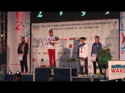 WAKO European Championships 2018 Bratislava awarding ceremeny