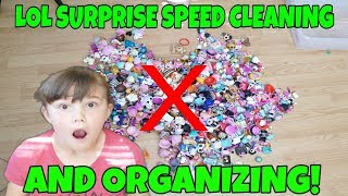 LOL Surprise Speed Cleaning! How I Store My LOL Dolls