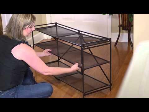 Origami Large Steel Shoe Rack - YouTube | 360x480