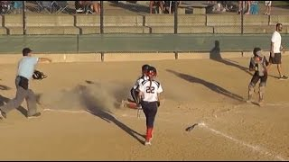 Umpire Bad Call at Plate: Emily Burrow SoCal Catcher vs Pegasus @ TCS Colorado Fireworks Softball