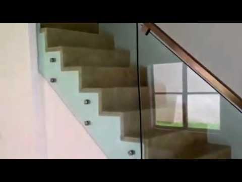 Escalera marmol y cristal contemporanea youtube - Mesas de marmol y cristal ...