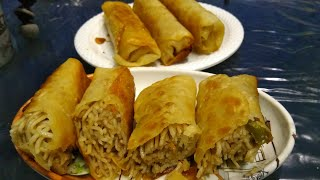 CHOWMEIN SPRING ROLLS | Simple and tasty Home-made recipe |