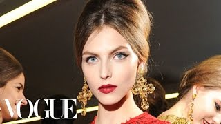 Makeup Tutorial with Pat McGrath Backstage At Dolce & Gabbana Fall 2013