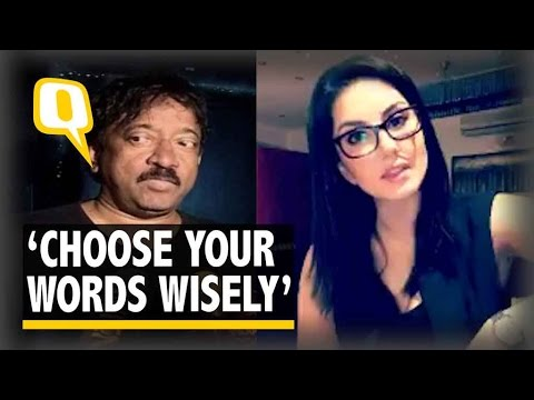 The Quint   Sunny Leone's Advice to RGV: 'Choose Your Words Wisely'