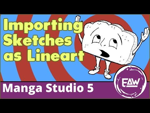 Importing Sketches as Line Art in Manga Studio 5