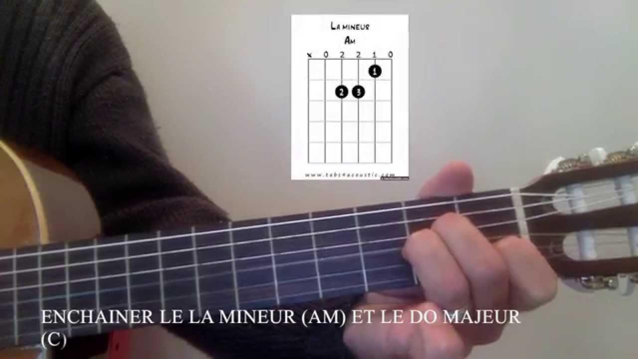 6eme morceau n°2 Guitare Enchaînement des accords de LAm ...