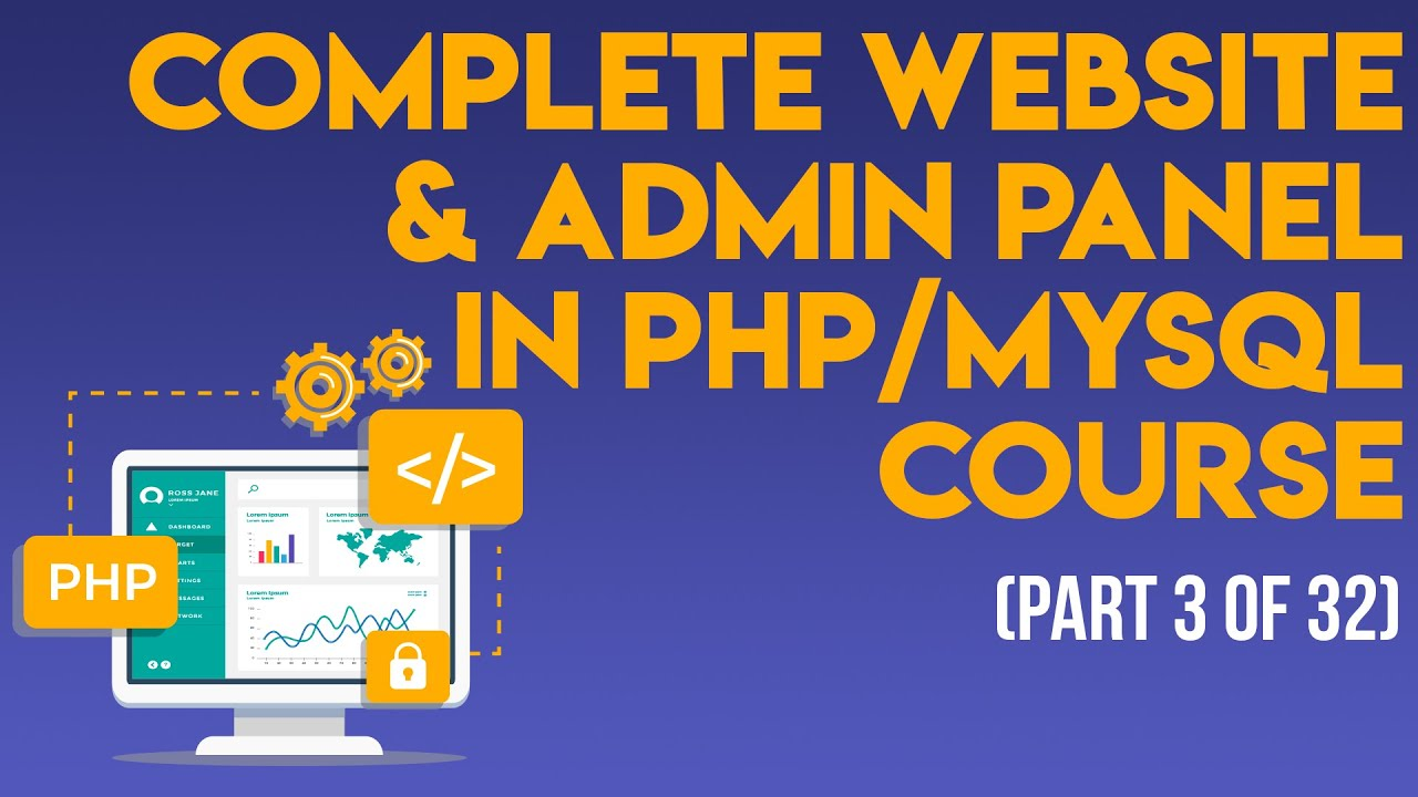 Complete Website & Admin Panel in PHP/MySQL 2019 (css-html layout) - Urdu/Hindi 3 of 32