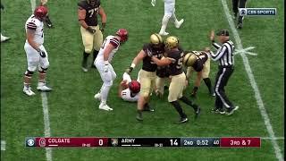 Army Football: Jacob Covington & Cole Christiansen Sack vs. Colgate 11-17-18