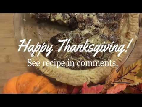 Thanksgiving Chocolate Bourbon Pecan Pie
