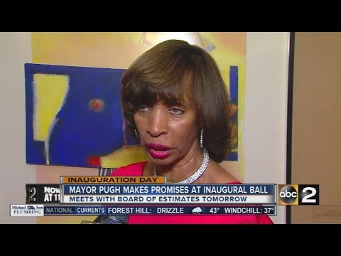 Pugh kicks off term as Baltimore mayor with promises on crime, eduction