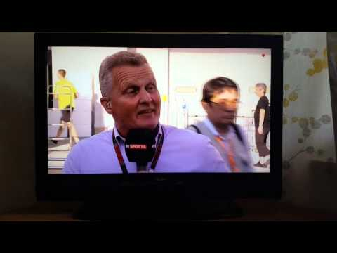 Johnny Herbert swearing on Sky Sports F1.