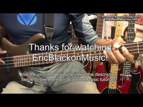 10 World Famous Bass Guitar Lines Riffs & Hooks With TABS Vol. 4 EricBlackmonMusicHD YouTube