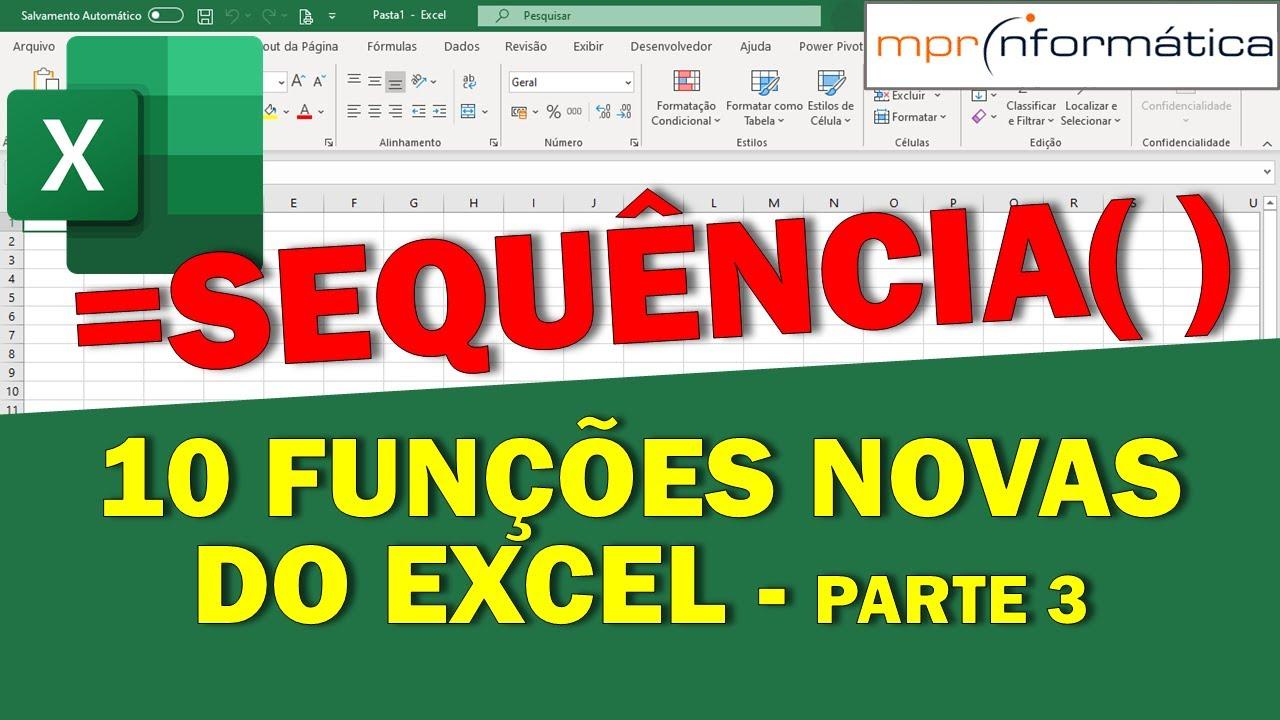 20 Funções Novas do Excel =FILTRO