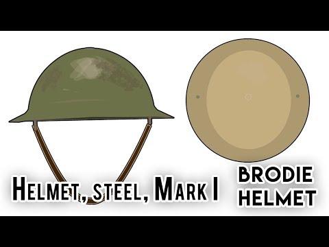 Brodie Helmet / Helmet, steel, Mark I (World War I) - YouTube
