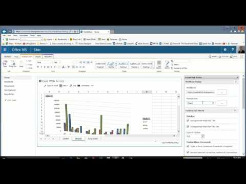 using the Excel Webpart in Microsoft SharePoint to display Business charts on a webpage