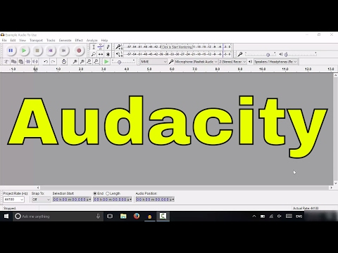 Audacity Tutorial-How To Import An Audio File