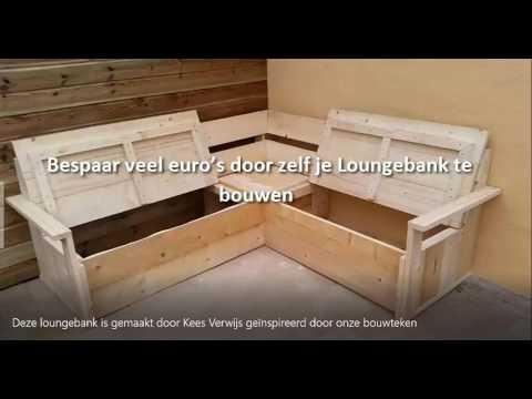 hoe maak je een loungebank  hoe maak je een tuinbank