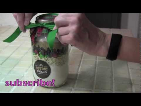 How to make Cowboy Cookies  Mason Jar Gift Idea  DIY Christmas