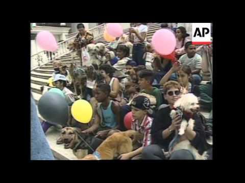 VENEZUELA: CARACAS: ANIMAL RIGHTS PROTEST MARCH