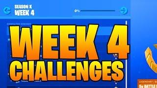 SEASON 10 WEEK 4 CHALLENGES LEAKED FORTNITE ( SEASON X ) Smash And Grab