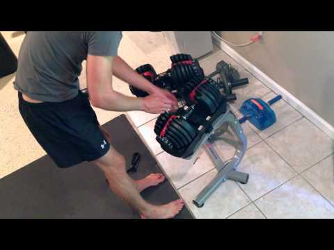BowFlex SelectTech 552 Dumbell and Stand Review and unboxing