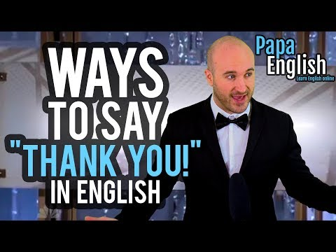 "10 Different Ways to Say ""Thank you!"" In English! - Learn English Vocabulary Mp3"