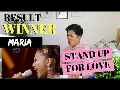 "MARIA - ""STAND UP FOR LOVE""  - RESULT & REUNION - Indonesian Idol 2018 