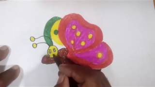 Drawing for Kids | beautiful Coloring Butterfly