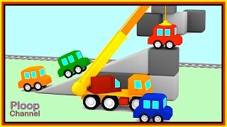 Cartoon Cars - CLEVER CRANE - COMPILATION Cartoons for kids!