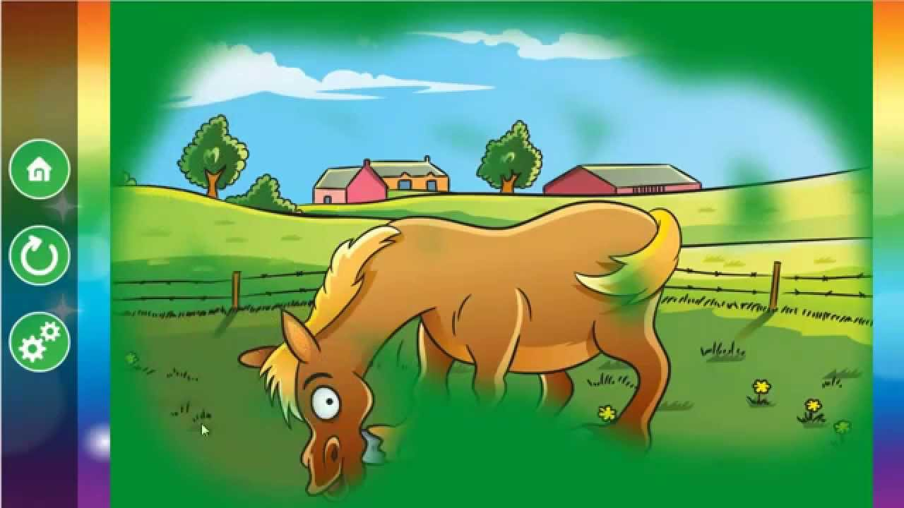 Farm Animals Scratch & Color Game for Kids and Toddlers - YouTube