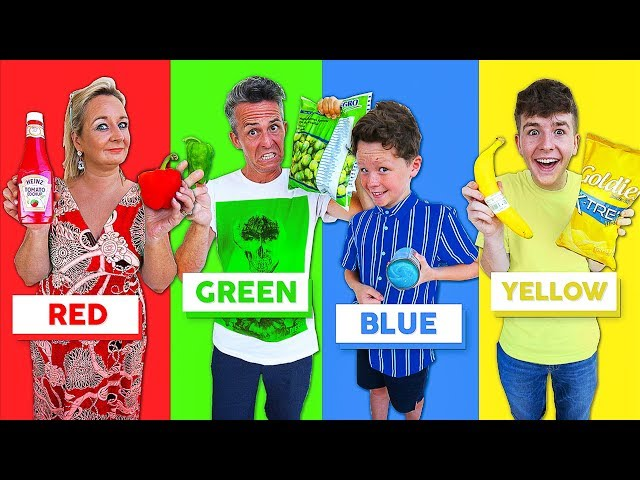 Last To STOP Eating Their COLORED Food WINS $10,000 Challenge!!