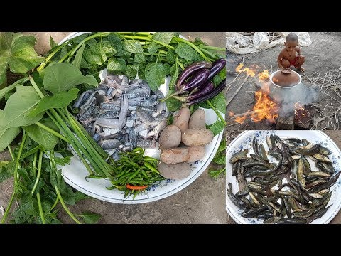 Tasty Fish & Vegetables Mixed Curry Cooking / Prepared By Kids & Women / Delicious Village Food
