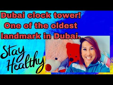 Dubai clock tower located in Deira.