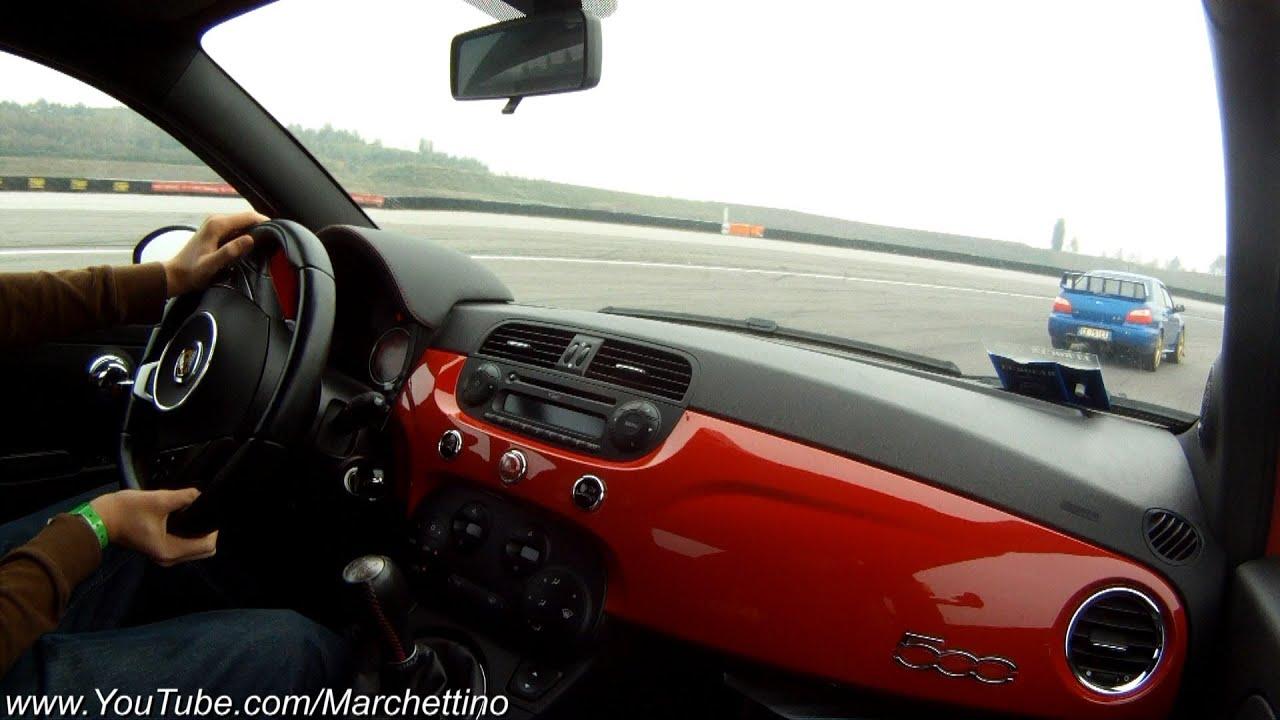 Abarth 500 vs Subaru Impreza WRX STi - YouTube