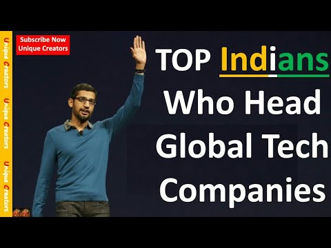Top 10 Indians who head GLOBAL Tech Companies ! Don't Miss it ! Every Indian should watch it....