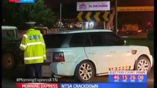 NTSA Crackdown : Speeding motorist hits NTSA OFFICER,
