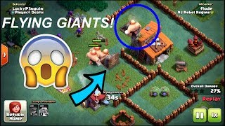 FUNNY MOMENTS IN BUILDER BASE! PUSH TRAP FUN IN COC